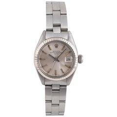 Rolex Date Stainless Steel Automatic Calendar Bracelet Watch, circa 1980