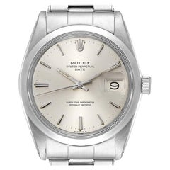 Rolex Date Stainless Steel Silver Dial Vintage Men's Watch 1500
