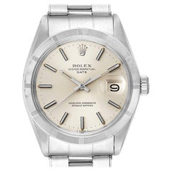 Rolex Date Stainless Steel Silver Dial Vintage Men's Watch 1501