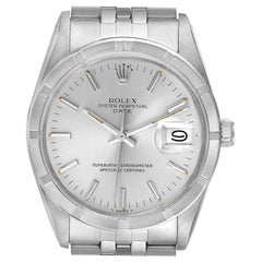 Rolex Date Stainless Steel Silver Dial Vintage Men's Watch 15010