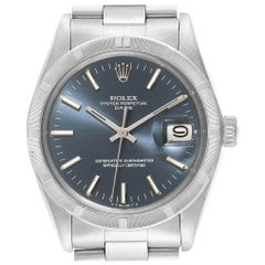 Rolex Date Vintage Blue Dial Stainless Steel Men's Watch 1501