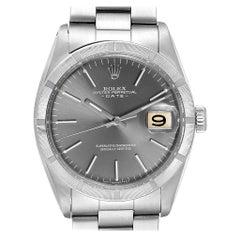Rolex Date Vintage Grey Dial Stainless Steel Men's Watch 1501