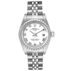 Rolex Date White Dial Jubilee Bracelet Ladies Watch 79240 Tag