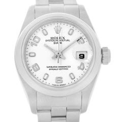 Rolex Date White Dial Oyster Bracelet Ladies Steel Watch 79160