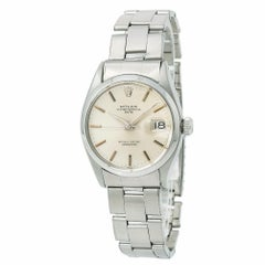 Rolex Date 6534, Silver Dial Certified Authentic