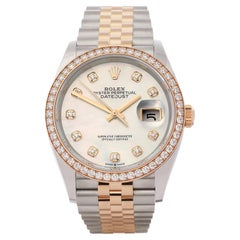 Rolex Datejust 0 126281RBR Unisex Rose Gold & Stainless Steel 0 Watch