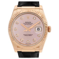 Rolex Datejust 116135, Rose Dial, Certified and Warranty