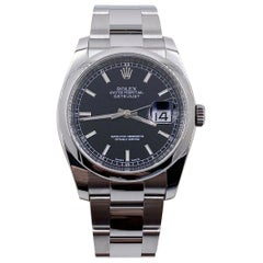 Rolex Datejust 116200 Black Dial Stainless Steel Box Papers, 2018