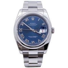 Rolex Datejust 116200 Blue Dial Stainless Steel Box Papers
