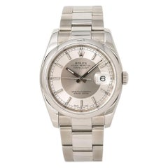 Rolex Datejust 116200 Men's Automatic Stainless Watch with Papers Silver Dial