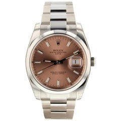 Rolex Datejust 116200, Millimeters Pink Dial, Certified and Warranty