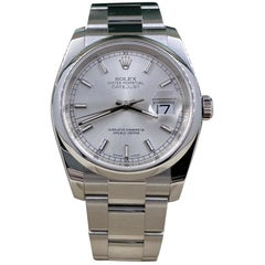 Rolex Datejust 116200 Silver Dial Stainless Steel Box Papers, 2018