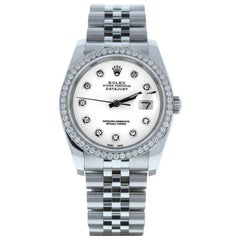 Rolex Datejust 116200, White Dial, Certified and Warranty