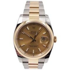 Rolex Datejust 116203 18 Karat Yellow Gold Stainless Steel Box Paper 2019