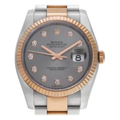 Rolex Datejust 116231, Blue Dial, Certified and Warranty