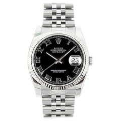 Rolex Datejust 116234, Black Dial, Certified and Warranty