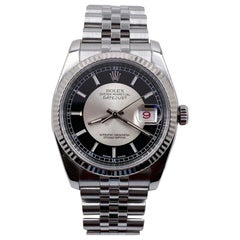 Rolex Datejust 116234 Black Tuxedo Dial Stainless Steel Mint Condition