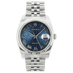 Rolex Datejust 116234, Blue Dial, Certified and Warranty