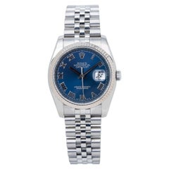 Rolex Datejust 116234 Jubilee Unisex Automatic Watch Blue Dial Stainless