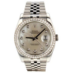 Rolex Datejust 116244, Millimeters White Dial, Certified and Warranty