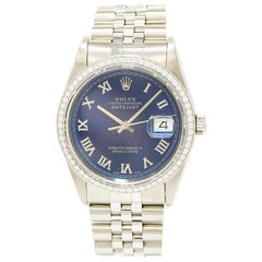 Rolex Datejust 116264, Blue Dial, Certified and Warranty