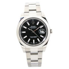Rolex Datejust 116300 Stainless Steel Smooth Bezel Automatic Watch 2015Card