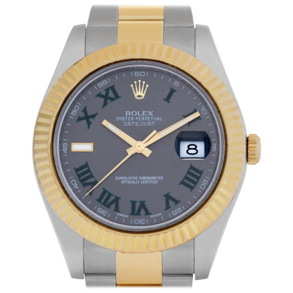 Rolex Datejust 116333 18 Karat and Stainless Steel Slate Dial Automatic Watch