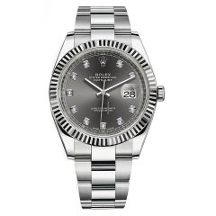 Rolex Datejust 116334 Men's Automatic Watch Rhodium Dial with Box and Papers