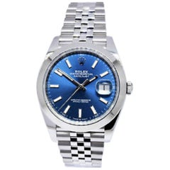 Rolex Datejust 126300, Blue Dial, Certified and Warranty