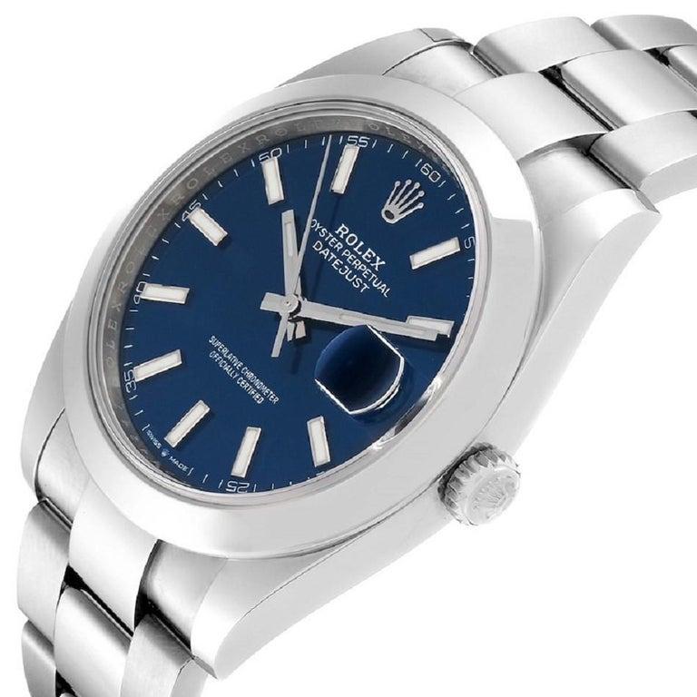Rolex Datejust 126300 New 2020 Blue Dial Men's Watch 41mm Box&P