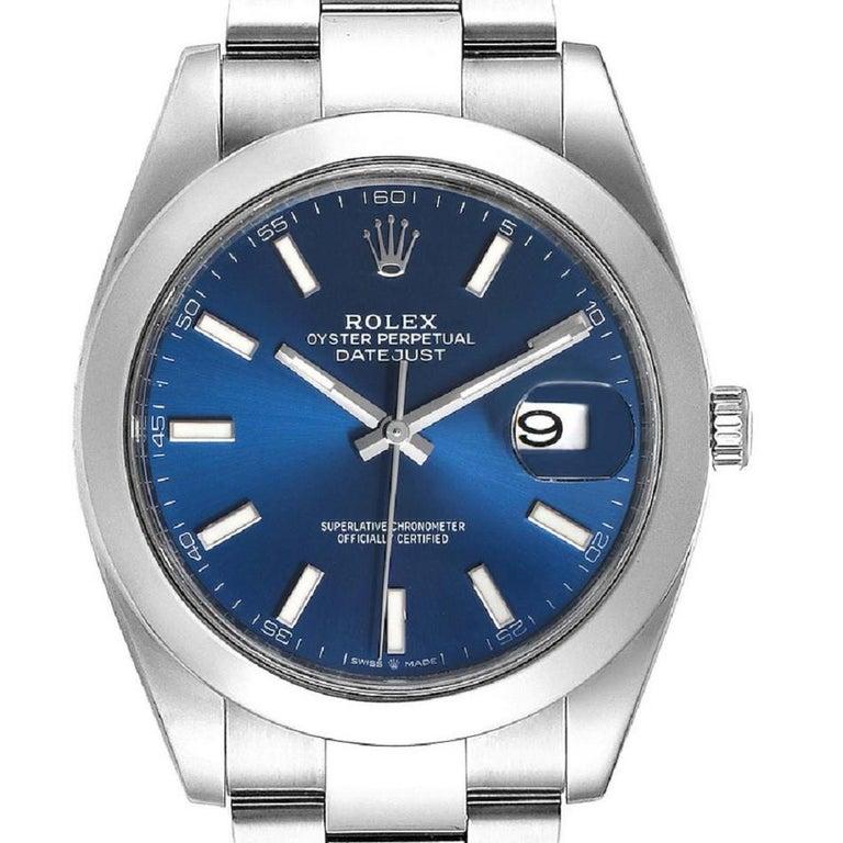 Rolex Datejust 126300 New 2020 Blue Dial Men's Watch Box&P For Sale 1