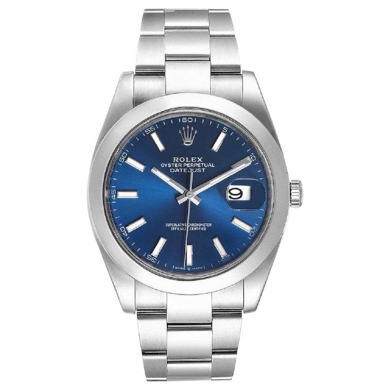Rolex Datejust 126300 New 2020 Blue Dial Men's Watch Box&P For Sale