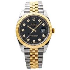 Rolex Datejust 126333 18K Two Tone Diamond Dial Marker Jubliee Men's Watch