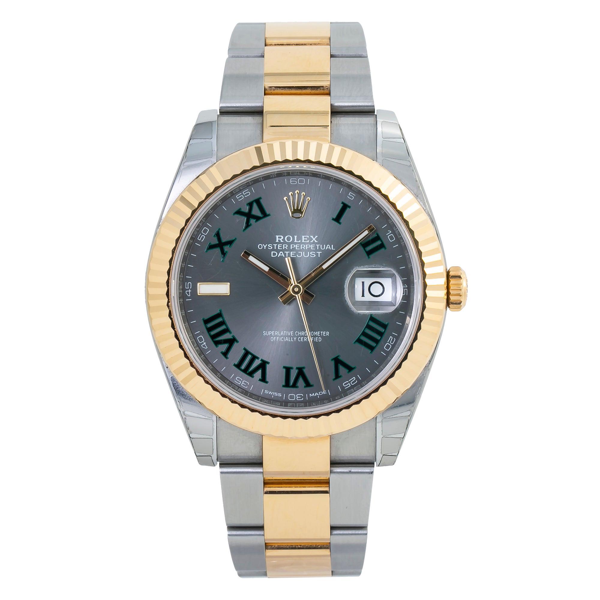 Rolex Datejust 126333 New Box & Paper Wimbledon Dial 18k Two Tone