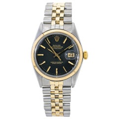 Rolex Datejust 1600, Black Dial, Certified and Warranty
