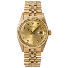 Rolex Datejust 1600, Gold Dial, Certified and Warranty