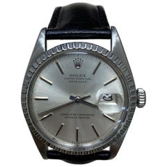 Rolex Datejust 16000 Silver Dial Stainless Steel with Leather Strap