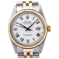 Rolex Datejust 16000, White Dial, Certified and Warranty