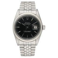 Rolex Datejust 1601 Black Dial Vintage Mens Watch