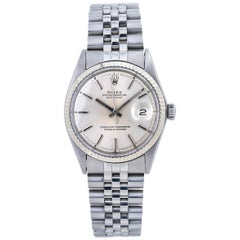 Rolex Datejust 1601 Jubilee Men's Watch 18 Karat White Gold Bezel
