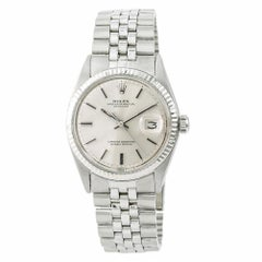 Rolex Datejust 1601 Men's Automatic Watch Silver Dial Stainless Steel