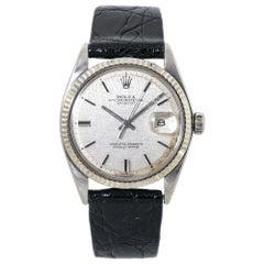 Rolex Datejust 1601 Vintage Silver Linen Dial Automatic Mens Watch