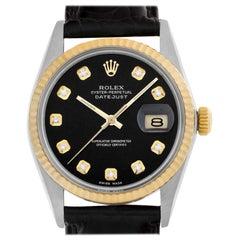 Rolex Datejust 16013 18 Karat and Steel Auto Watch