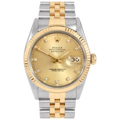 Rolex Datejust 16013, Beige Dial, Certified and Warranty