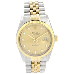 Rolex Datejust 16013 Dimond Dial Men Watch Original Box and Papers