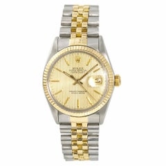 Rolex Datejust 16013 Men's Automatic Watch Champagne Dial Two-Tone SS