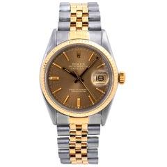 Rolex Datejust 16013 Men's Tropical Dial 18 Karat Two-Tone Watch