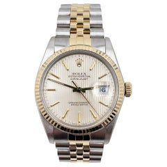 Rolex Datejust 16013 Tapestry Dial 18K Yellow Gold Stainless Steel