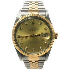 Rolex Datejust 16013 with Band and Yellow Dial