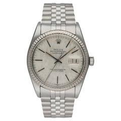 Rolex Datejust 16014 Linen Dial Men's Watch